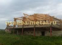 Изготовление металлокаркаса веранды деревянного дома