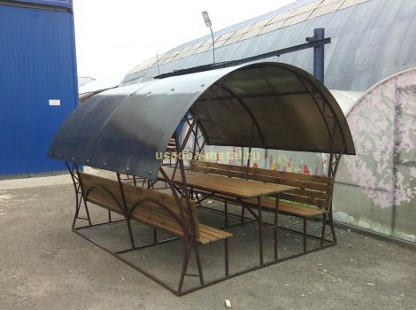 Беседка из поликарбоната - размер 2,5х3 м, цена 30000 руб.