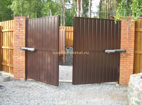 Распашные гаражные ворота во Владимирской области