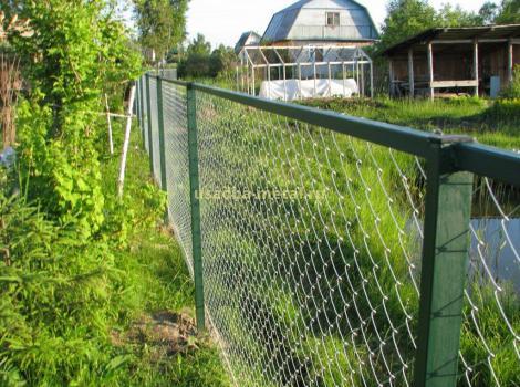Установка заборов из сетки рабицы во Владимирской области