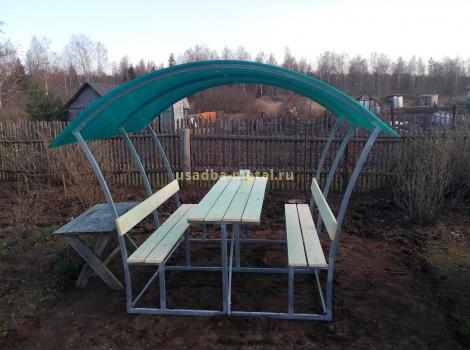 Беседка из поликарбоната - размер 2,5х3 м, цена 23000 руб.