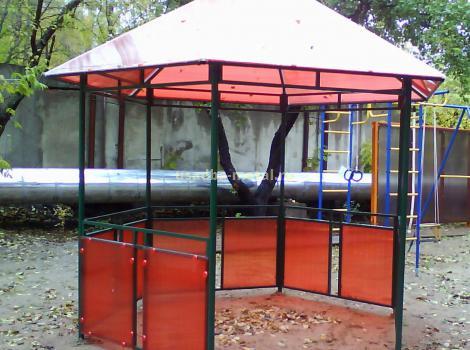 Беседка из поликарбоната - размер 3х3 м, цена 50000 руб.