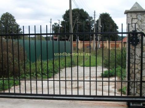 Откатные решетчатые ворота